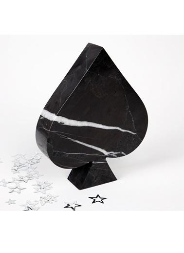 3Wdesign El Yapımı Mermer Maça Obje Siyah